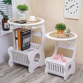 床頭櫃現代簡約北歐式床頭櫃臥室小圓桌客廳茶幾  【端午節特惠】