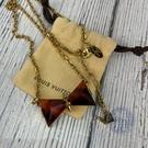 BRAND楓月 LOUIS VUITTON 路易威登 LV M67067 琥珀蝴蝶結造型項鍊 配件 配飾 飾品