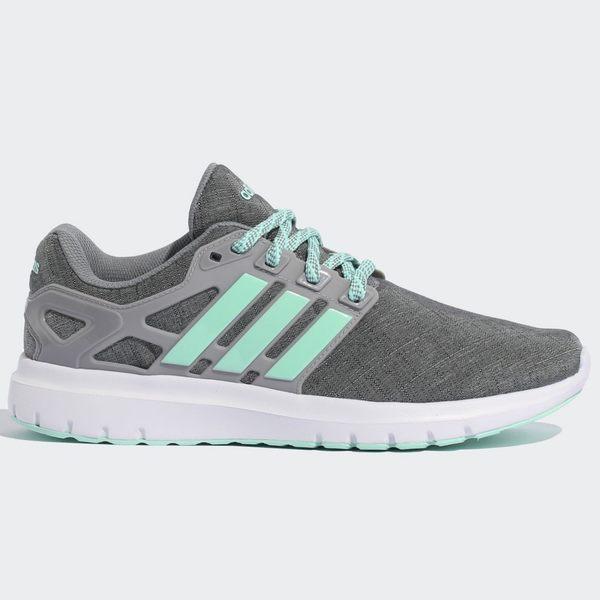 ADIDAS ENERGY CLOUD V 女鞋 慢跑 休閒 輕量 透氣 柔軟 緩震 灰 綠 【運動世界】 B44868