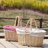 野餐籃 郊游野餐小籃子踏青野炊踏春ins網紅野餐用品編織籃面包菜 星隕閣