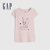 Gap女童 Gap x Warner Bros合作系列雙面亮片短袖T恤 730975-淡粉色