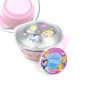 日本 迪士尼 Disney 不銹鋼雙柄碗(附蓋) 迪士尼公主