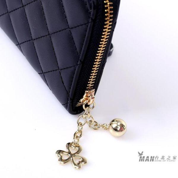 2018新款韓版菱格長版女士錢包錢夾拉鍊大容量手拿包多卡位錢夾手機包