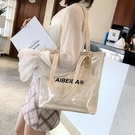 大包包女2020新款夏天簡約學生托特包時尚百搭單肩包韓版手提女包【果果新品】