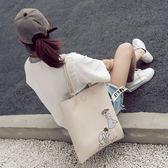 文藝包包女春夏新款韓版小清新學生大包手提包單肩包托特包【快速出貨八折優惠】