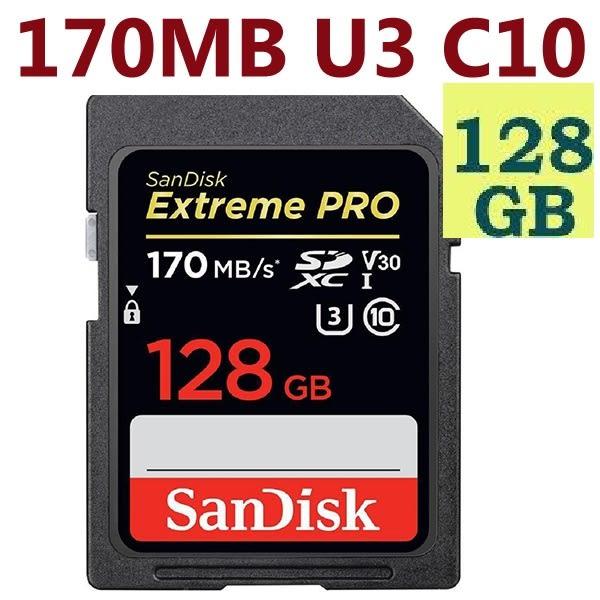 SanDisk 128GB 128G SDXC Extreme Pro 【170MB/s】SD SDHC UHS 4K U3 V30 C10 SDSDXXY-128G 多件優惠 相機記憶卡
