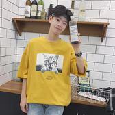 夏裝貓咪印花日系寬松男生潮牌短袖T恤 JA477 『時尚玩家』