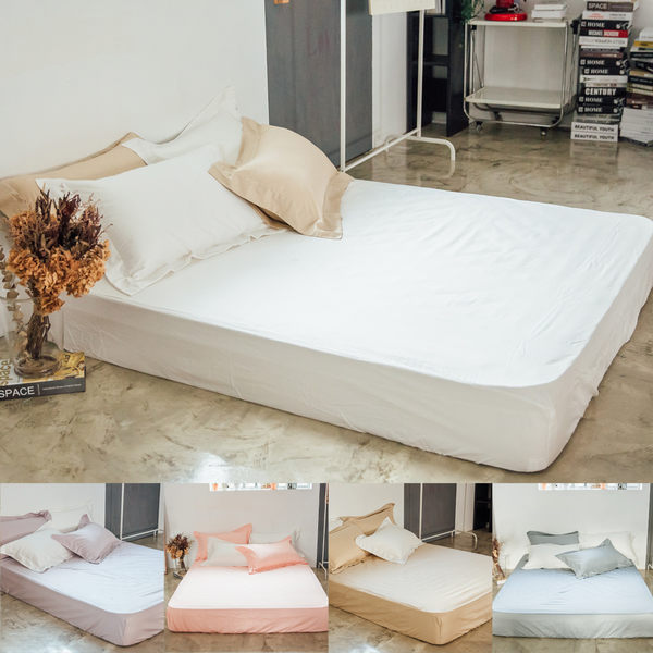 加大床包【純色-共5色】100%精梳棉;素色;LAMINA台灣製