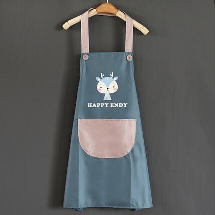 圍裙 圍裙女時尚家用廚房防水防油可愛日系韓版做飯圍腰工作服定制logo【快速出貨八折下殺】
