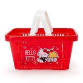 〔小禮堂〕Hello Kitty 多功能置物籃《紅.吊帶褲.蛋糕》收納籃.提籃 4901610-30255