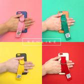 iPhone6s 韓國代購 chic 帶扣 純拼色 手機殼 6蘋果 7Plus 套創意 個性 女 款  美樂蒂