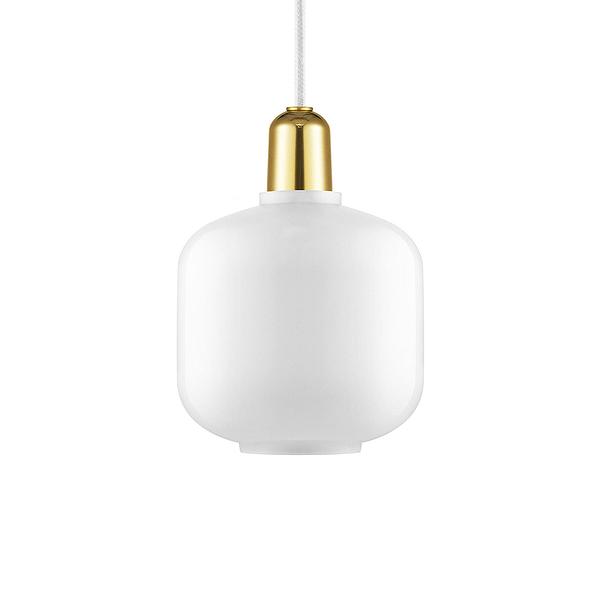 丹麥 Normann Copenhagen Amp Suspension Lamp Small Brass 真空管 玻璃 吊燈 小尺寸 - 黃銅版