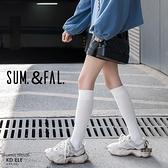 買1送1 2雙裝 小腿襪長筒襪子女日系jk中筒過膝半高筒及膝【愛物及屋】