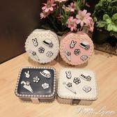 創意公主首飾盒便攜小巧簡約飾品盒旅行雙層視頻收納盒韓國耳環盒  范思蓮恩