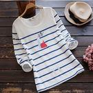 ☆莎lala 【 K101171】日系條紋圓領T恤-(現)卡通圖案長袖上衣(SIZE約:M)