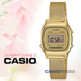 CASIO手錶專賣店 國隆 LA670WEMY-9D 輕巧電子女錶 不鏽鋼錶帶 金色錶面 LA670WEMY