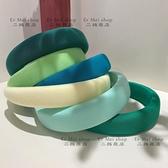 髮箍 春夏綠色系發箍 韓國ins時尚海綿發箍復古簡約百搭外出壓發頭箍 歐歐