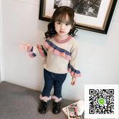 女童毛衣  女童毛衣秋冬裝新款洋氣童裝1-3歲2寶寶套頭針織衫兒童打底衫 歐歐流行館