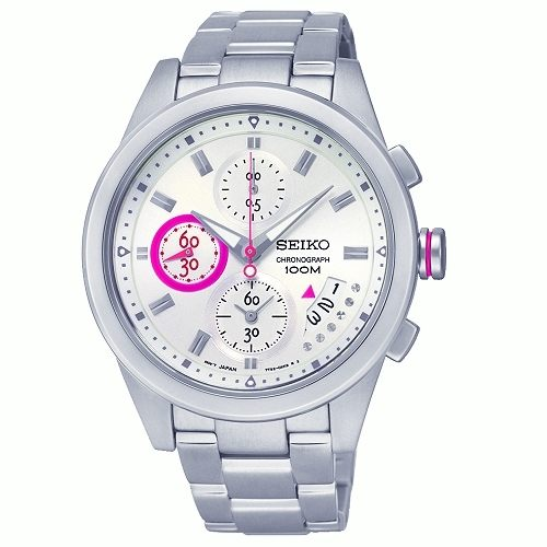 SEIKO Criteria 時尚休閒風格三眼計時女腕錶/白面/33mm/7T92-0RV0S(SNDW61P1)