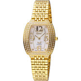 Ogival 愛其華 經典酒桶型時尚腕錶 3872DLK 金色 26x29mm