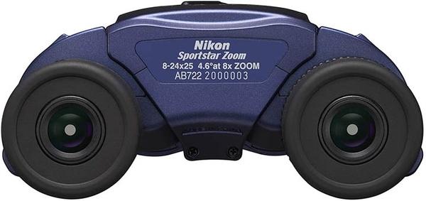 Nikon【日本代購】尼康 變焦雙筒望遠鏡 普羅棱鏡式8-24倍25口徑SPZ8-24X25BL-藍色
