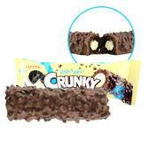 韓國 LOTTE 樂天 CRUNKY 黑巧克力棒 33g ◆86小舖 ◆