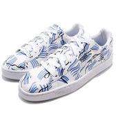 Puma 休閒鞋 Basket SM Shantell Martin 白 藍 金標 聯名限量款 皮革 女鞋【PUMP306】 36589901