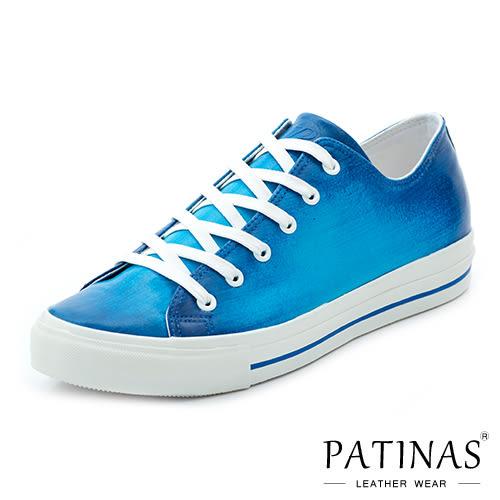 【PATINAS】小牛皮休閒鞋 – 藍洞