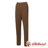 【wildland 荒野】女 彈性輕薄抗UV長褲『卡其色』0A61301 戶外 登山 休閒 雙向彈性褲