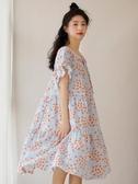 日系睡裙女純棉紗布薄款可外穿夏天寬鬆甜美學生全棉家居服裙子