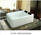 【麗室衛浴】BATHTUB WORLD  LS-820 壓克力  獨立造型缸 1880*1430*580MM