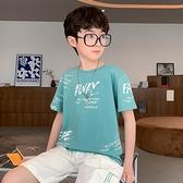 男童T恤 短袖夏季2021新款兒童夏裝純棉體恤中大童半袖上衣帥氣潮【快速出貨】