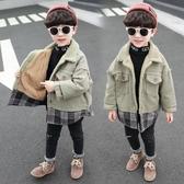 兒童外套 男童外套加絨加厚秋冬裝2019新款冬季兒童裝寶寶上衣潮童