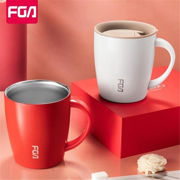 富光fga保溫水杯女不銹鋼馬克杯帶蓋茶杯創意咖啡辦公室家用杯子【快速出貨】