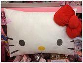♥小花花日本精品♥ Hello Kitty 靠枕 枕頭 抱枕紅色貓臉長型抱枕12314805