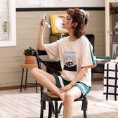 【預購款】居家服夏季新款睡衣套裝女短袖短褲甜美兩件套可外穿922#【時尚潮流部落】