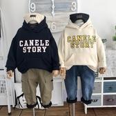 韓國兒童冬季厚實保暖連帽衛衣男女童寬鬆上衣 童趣屋