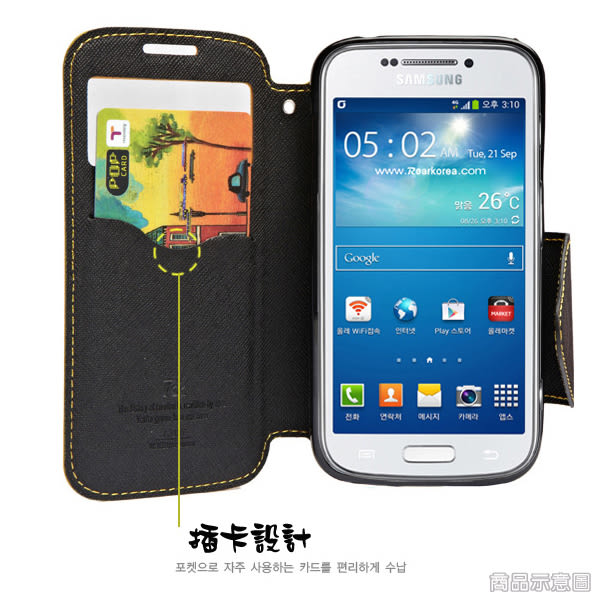 【Roar】三星 Samsung Galaxy J5 2016 SM-J510 視窗皮套/側翻手機套/支架斜立保護殼/側開插卡手機套