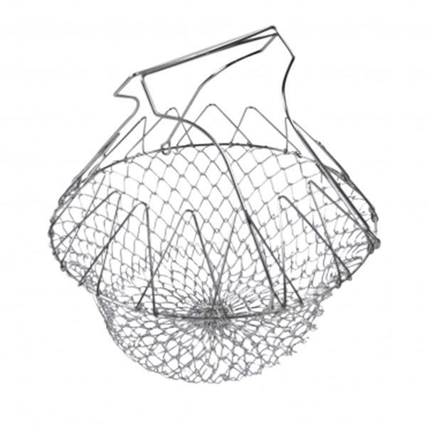 派樂 多功能不鏽鋼炸物籃/萬用瀝水籃/瀝水盆 (1入) 濾水籃 炸物網 廚師籃 油炸網 瀝水網