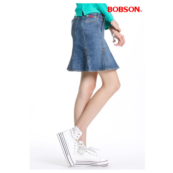 BOBSON 女款三角衩片牛仔短裙(D064-53)