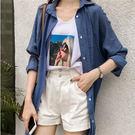 (XA-5622)寬鬆bf襯衫女長袖襯衣雪紡開衫防曬外套
