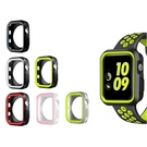 蘋果apple watch雙色手錶殼套 防摔iwatch123456/SE代 軟矽膠運動錶殼 38/40/42/44mm