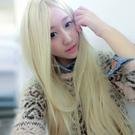 高仿真超自然整頂假髮【MC084】米金混色中分長直髮☆雙兒網☆