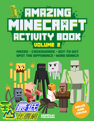 [ 美國直購 2015 暢銷書] Amazing Minecraft Activity Book (Volume 2)