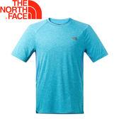 【The North Face 男款 防曬排汗短T《藍》】NF0A2TZN/排汗衣/短袖/圓領T恤★滿額送