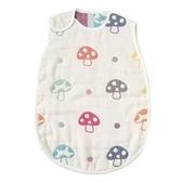 日本製 Hoppetta 蘑菇六層紗防踢被背心 嬰幼兒款 0~3 歲 M號 扣子款 滿月禮