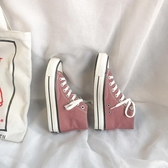 高筒帆布鞋女新款學生韓版ulzzang潮鞋百搭chic鞋子女i 『洛小仙女鞋』