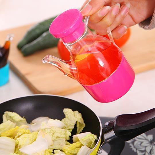 塑料防漏小油壺裝油瓶廚房用品醬油壺調味瓶醋瓶大油罐醬油瓶家用JRM-1762