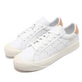 adidas 休閒鞋 Everyn W 白 橘 復古奶油底 金標 厚底 餅乾鞋 基本款 女鞋【PUMP306】 CG6181