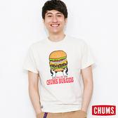 CHUMS 日本 男 漢堡 Burgers 純棉短袖T恤 象牙白 CH011120W004